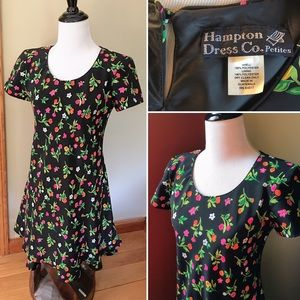 Vintage 90s Hampton Dress Co Petites floral dress